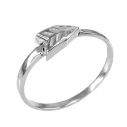 Womens Sterling Silver Arrow Ring