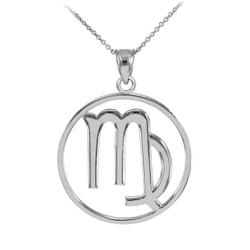 White Gold Virgo Zodiac Necklace