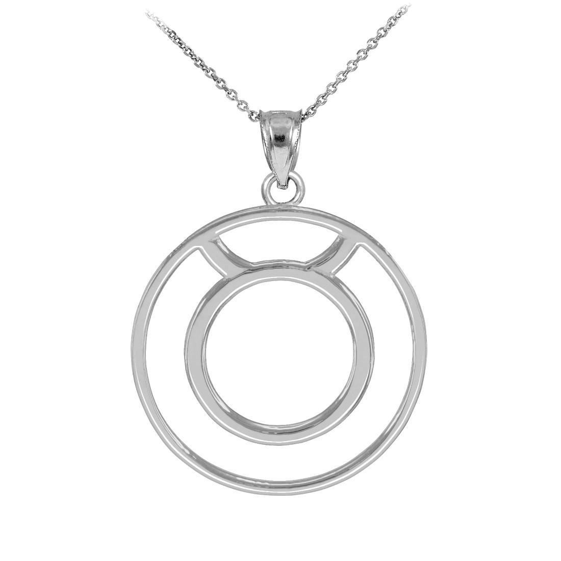 LA BLINGZ 10K Polished Rose Cancer Zodiac Sign Round Pendant Necklace