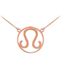 Rose Gold Leo Zodiac Necklace