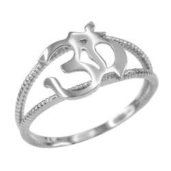 White Gold Om ring.