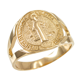 Gold St. Benedict Ring.