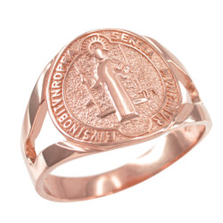 Rose Gold St. Benedict Ring.