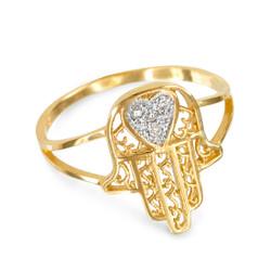Gold Hamsa Ring