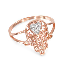 Rose Gold Hamsa Ring