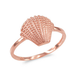 Rose gold conch shell ring.