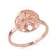 Rose Gold Sand Dollar Ring