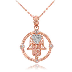Rose Gold Hamsa Necklace