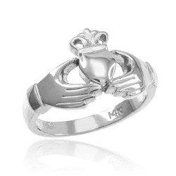 Sterling Silver Classic Claddagh Ring
