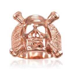 Rose Gold Biker Ring