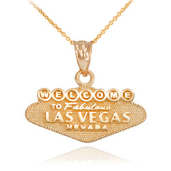 Gold Las Vegas Charm Necklace