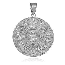 White Gold Chakra Pendant