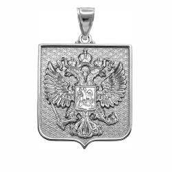White Gold Russian Federation Pendant