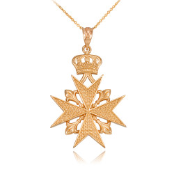 Gold Maltese Cross necklace