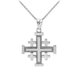 Religious Jewelry by LABLINGZ Polished 14K Solid White Gold Plain Tube Cross Baby Charm Pendant S-1.15