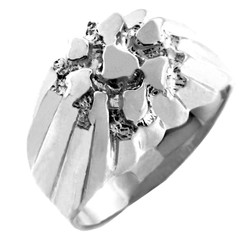 Sterling Silver King Nugget Ring