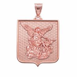 Rose Gold St. Michael Pendant