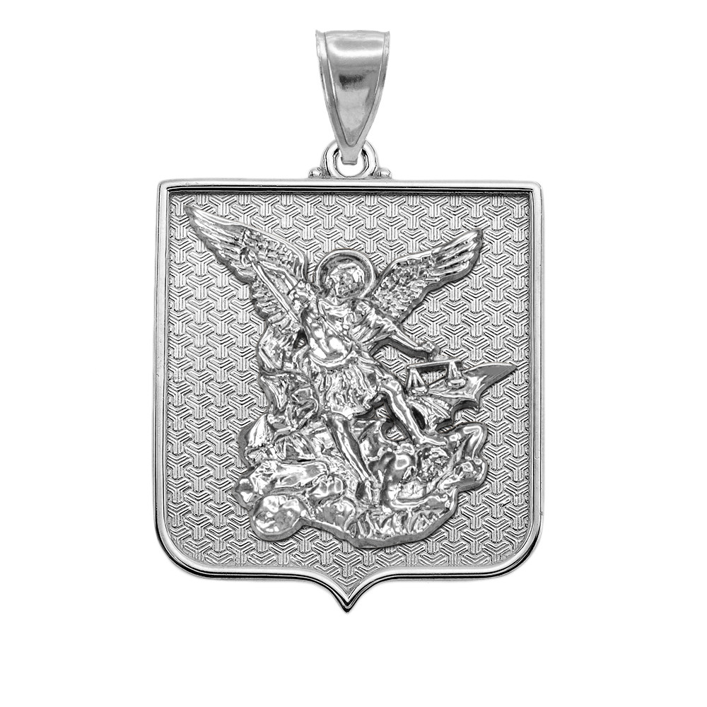 Michael Pendant Necklace Polished Sterling Silver St