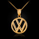 Gold VW logo necklace