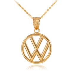 Gold VW logo pendant