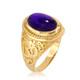 Gold Om ring with Amethyst Birthstone
