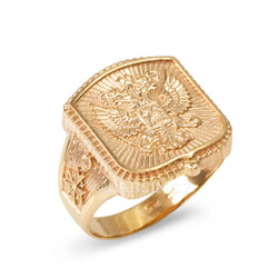 Men's Gold Russian Ring
