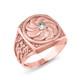 Rose Gold Armenian Diamond Statement Ring