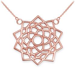 Rose Gold Sahasrara Lotus Unity Chakra Yoga Necklace