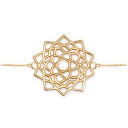 Gold Sahasrara Lotus Unity Chakra Yoga Bracelet