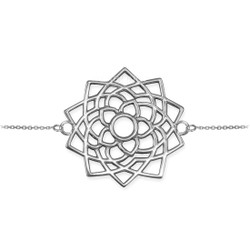 White Gold Sahasrara Lotus Unity Chakra Yoga Bracelet
