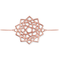 Rose Gold Sahasrara Lotus Unity Chakra Yoga Bracelet
