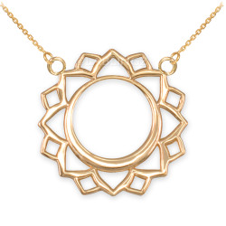 14K Gold Vishuddha Chakra Yoga Necklace
