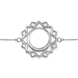 Sterling Silver Vishuddha Chakra Yoga Bracelet