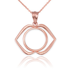 Rose Gold Ajna Chakra Yoga Pendant Necklace