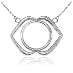 14K White Gold Ajna Chakra Yoga Necklace