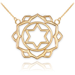 14K Gold Anahata Love Chakra Yoga Necklace