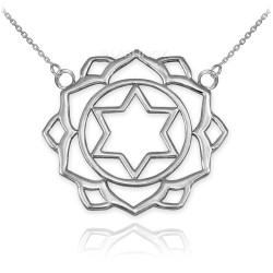 Sterling Silver Anahata Love Chakra Yoga Necklace