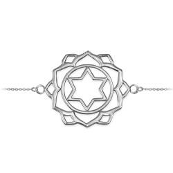 14K White Gold Anahata Love Chakra Yoga Bracelet