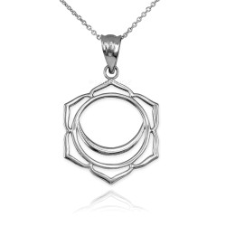 Sterling Silver Svadhishthana Chakra Yoga Pendant Necklace