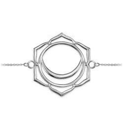 14K White Gold Svadhishthana Chakra Yoga Bracelet