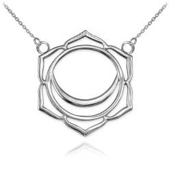 14K White Gold Svadhishthana Chakra Yoga Necklace