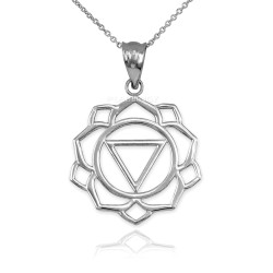 White Gold Manipura Chakra Yoga Pendant Necklace