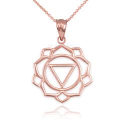 Rose Gold Manipura Chakra Yoga Pendant Necklace