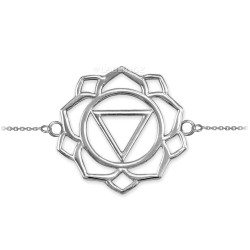 14K White Gold Manipura Chakra Womens Yoga Bracelet