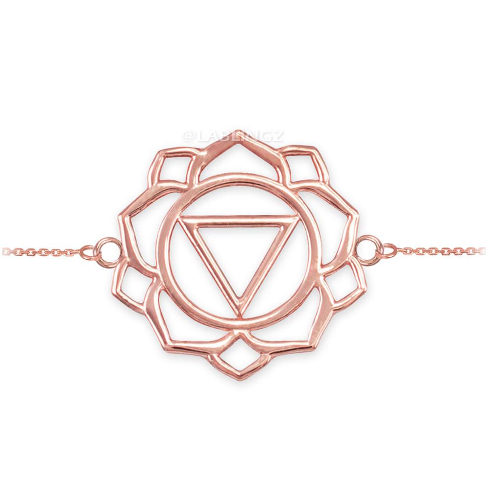 14K Rose Gold Ajna Chakra Yoga Bracelet