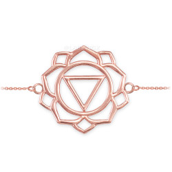 14K Rose Gold Manipura Chakra Womens Yoga Bracelet