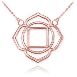 14K Rose Gold Muladhara Chakra Womens Yoga Necklace