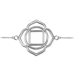 Sterling Silver Muladhara Chakra Womens Yoga Bracelet