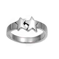 Doppelganger Star Petite Rings Sterling Silver 925