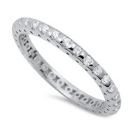 Eternity Cubic Zirconia Ring Sterling Silver 925